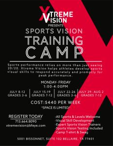 Xtreme Vision Spots Vision Training Camp Houston